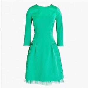 J Crew - Sheath dress with tulle hem 👗